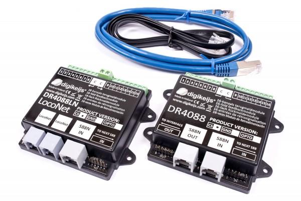 Digikeijs DR4088LN-GND Set - 16x LocoNet-Rückmelder + 16x S88N-Rückmelder